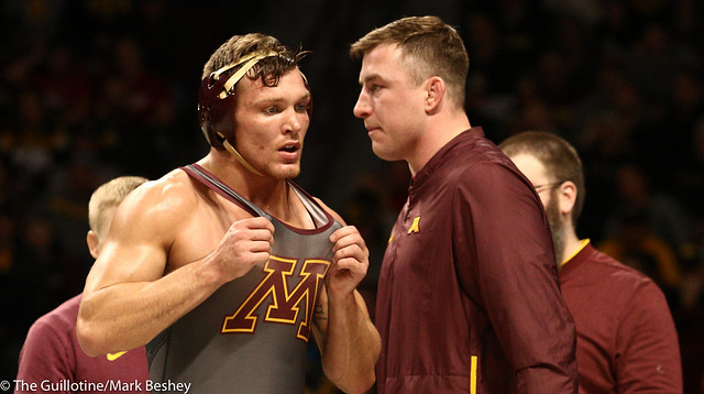 Quarterfinal - Devin Skatzka (Minnesota) 24-7 won by fall over Mikey Labriola (Nebraska) 23-5 (Fall 7:22) - 1903amk0330