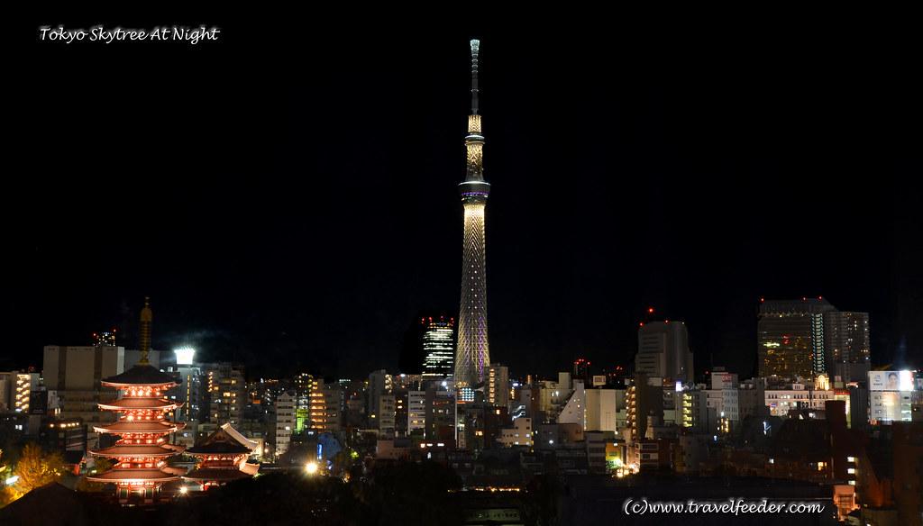 Tokyo Skytree view at night-1