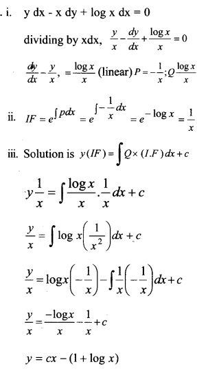 Plus Two Maths Chapter Wise Questions and Answers Chapter 9 Differential Equations 34