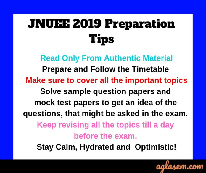 JNUEE 2019 Preparation Tips