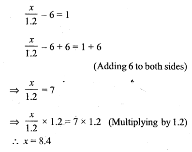 Selina Concise Mathematics Class 6 ICSE Solutions - Simple (Linear) Equations (Including Word Problems) - r22