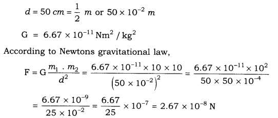 RBSE Solutions for Class 9 Science Chapter 10 Gravitation 1