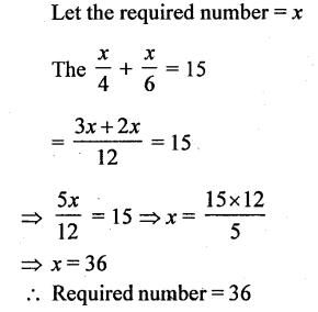 Selina Concise Mathematics Class 6 ICSE Solutions - Simple (Linear) Equations (Including Word Problems) - d12