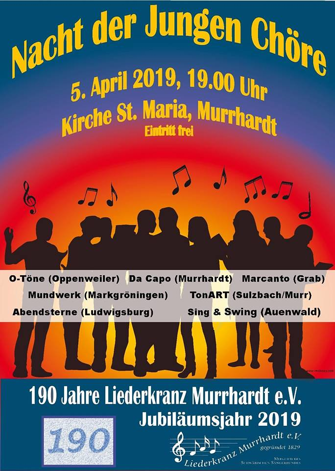 2019-04-05 Nacht der Jungen Chöre, Murrhardt