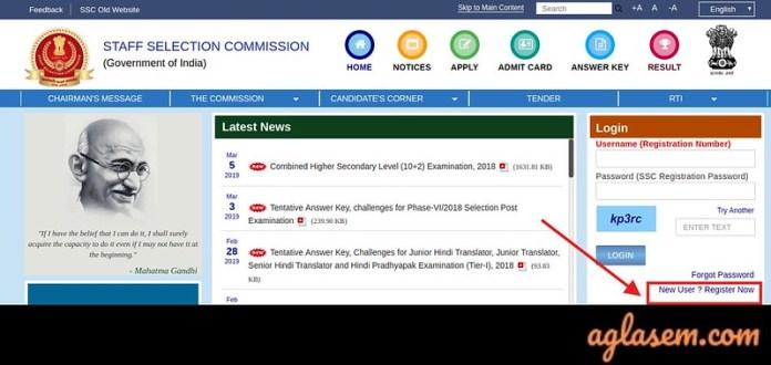SSC CHSL Application Form 2019 - Registration Link