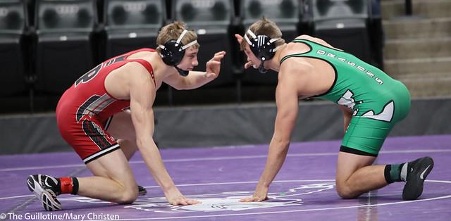 160AA 5th Place Match - Logan Nelson (Litchfield) 32-4 won by decision over Reese Kapsner (Pierz) 38-6 (Dec 6-2). 190302BMC3761