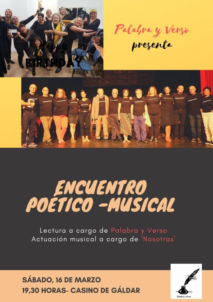 Palabra y Verso y el grupo musical 'Nosotras' celebran un encuentro poético-musical en Gáldar