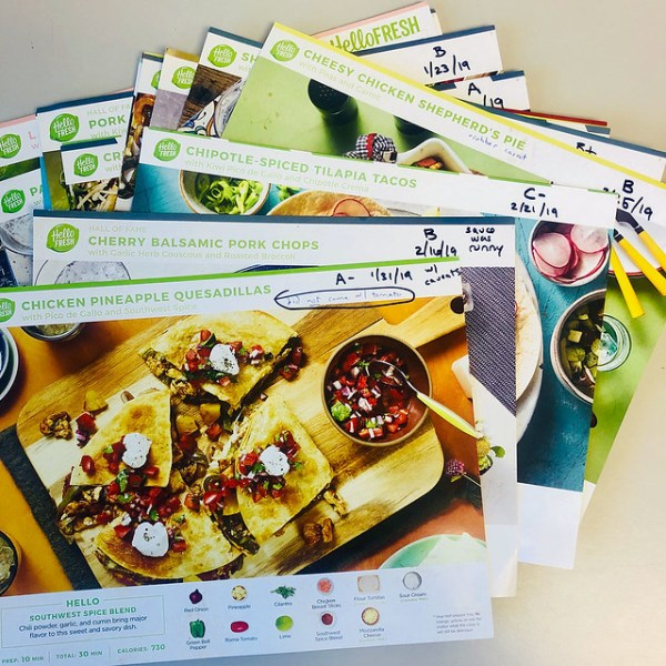 HelloFresh recipe cards