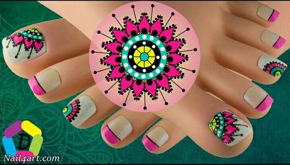 Explosion Nails and Snowflakes