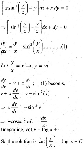 Plus Two Maths Chapter Wise Questions and Answers Chapter 9 Differential Equations 64