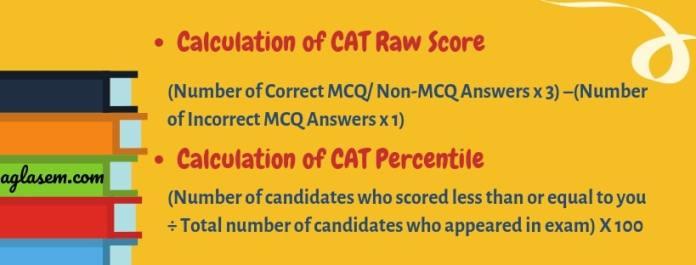 CAT 2019 Raw Score and Percentile Calculation