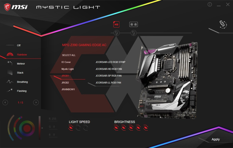 MysticLight RGB Overlcuster