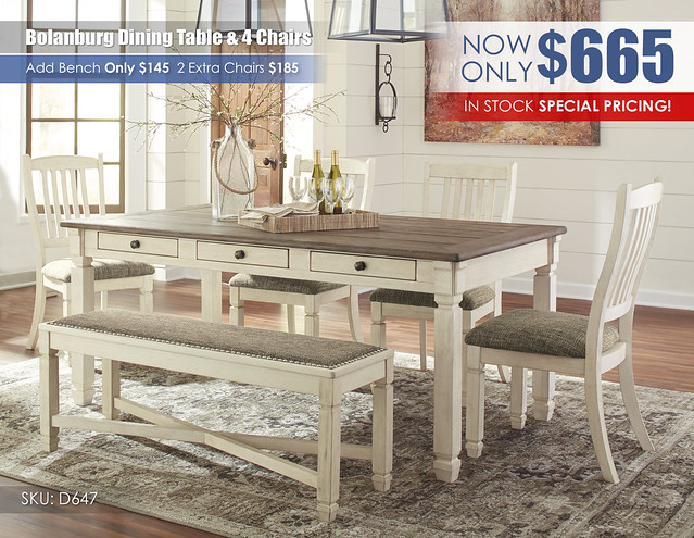 Bolanburg Dining Table & 4 Chairs_In stock Clearance_D647-25-01(4)-00-R40114