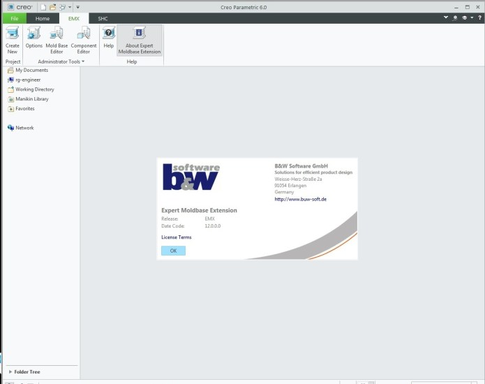 Working with PTC Creo EMX 12.0 for PTC Creo 6.0 full license