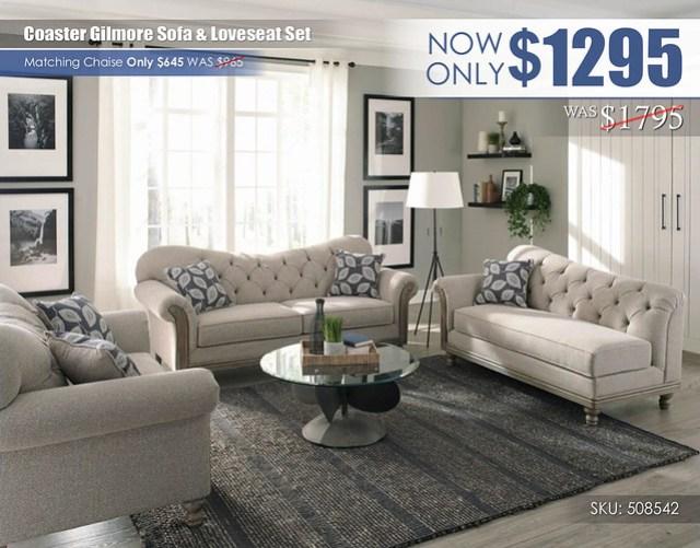 Coaster Gilmore Living Set_508542