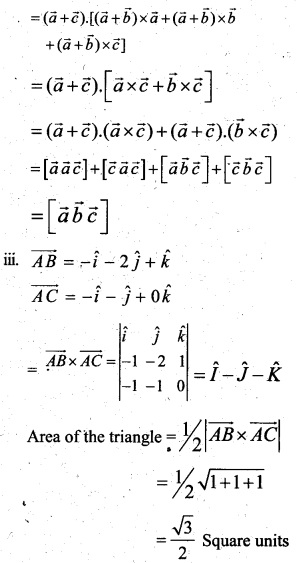 Plus Two Maths Chapter Wise Questions and Answers Chapter 10 Vector Algebra 55