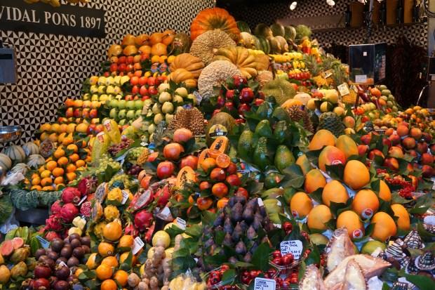 Fruits in Mercat de la Boqueria