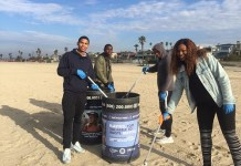 Local Sailors help out with beach clean up