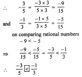 RBSE Solutions for Class 7 Maths Chapter 4 Rational