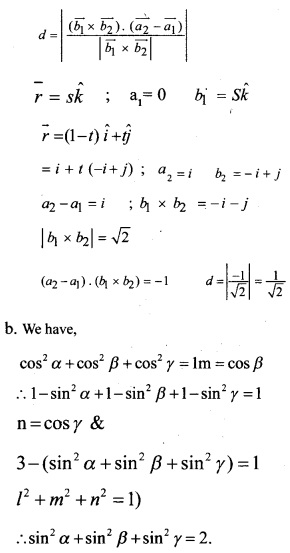Plus Two Maths Chapter Wise Questions and Answers Chapter 11 Three Dimensional Geometry 35