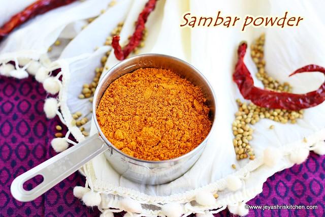 Home made sambar masala