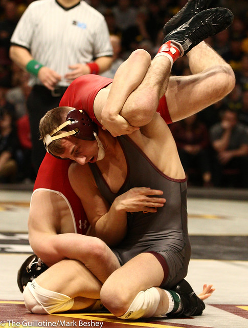 Quarterfinal - Thomas Thorn (Minnesota) 17-8 won by decision over Cole Martin (Wisconsin) 17-10 (Dec 7-5) - 1903amk0270
