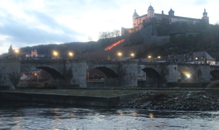 The Old Main Bridge and Marienberg fortress on the hill, Würzburg, Germany
