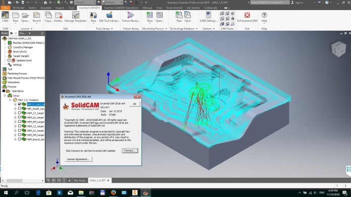 Programming with InventorCAM 2018 SP2 HF7 full license