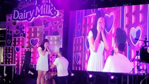 Cadbury Dairy Milk Pop Your Heart Valentine's Concert with Marriage Proposal