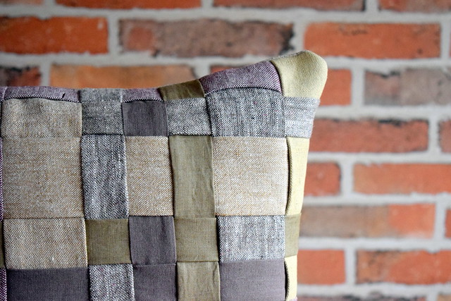 Basket Weave Linen Cushion