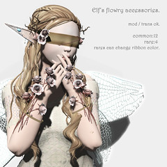 *NAMINOKE*Elf's flowy accessories gacha AD
