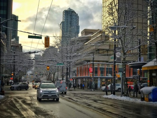 Downtown Vancouver snow, February 2019
