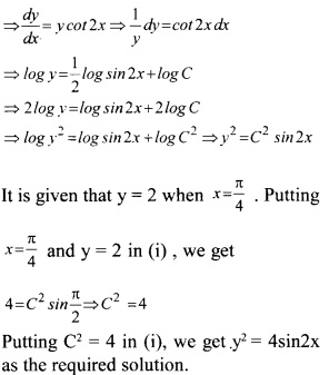 Plus Two Maths Chapter Wise Questions and Answers Chapter 9 Differential Equations 42