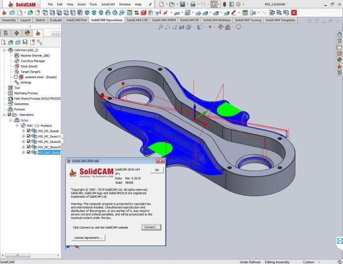 Working with SolidCAMCAD 2019 SP1 Standalone full license