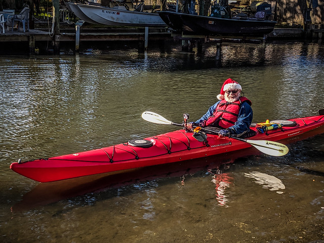 Santa Paddle on the Indian River-009