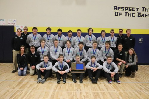 2019 Section 4A ACGC Falcon Wrestling Champions and Captains picture Feb 15, 2019