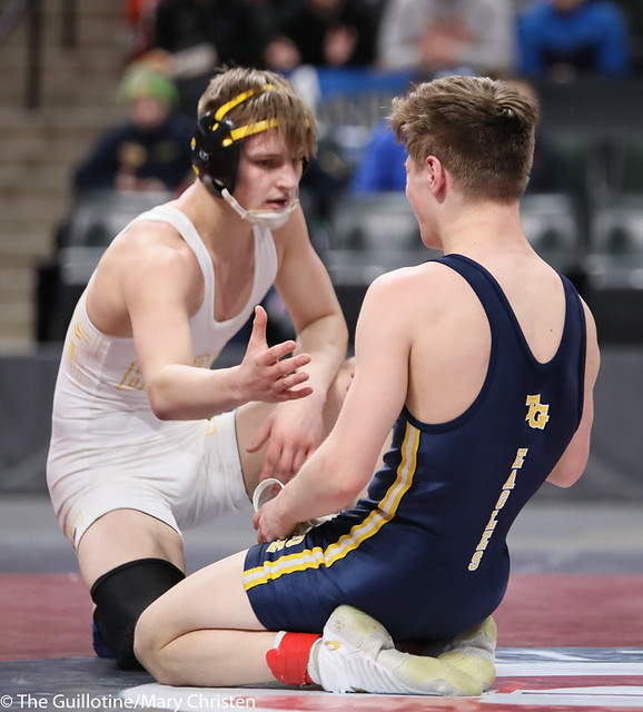 126AA 1st Place Match - Jake Svihel (Totino-Grace) 57-0 won by decision over Mitchel Petersen (Byron) 29-4 (Dec 7-3) - 190302BMC4334