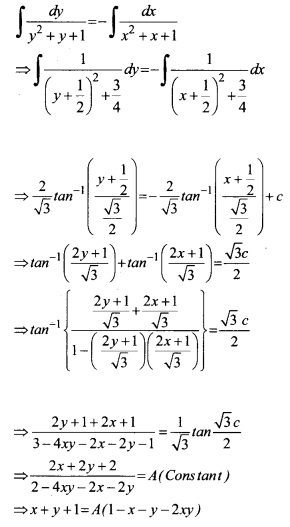 Plus Two Maths Chapter Wise Questions and Answers Chapter 9 Differential Equations 38