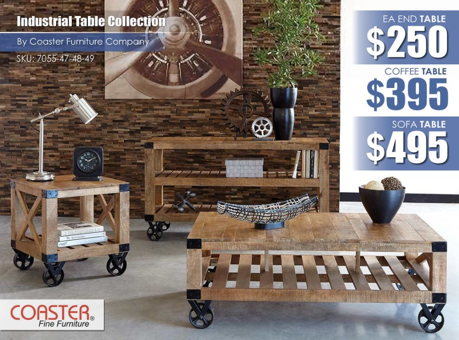 Industrial Coaster 7055_Table Collection