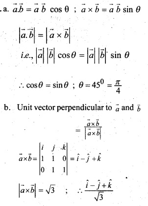 Plus Two Maths Chapter Wise Questions and Answers Chapter 10 Vector Algebra 9