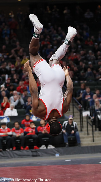 170AA 1st Place Match - Isaiah Thompson (Detroit Lakes) 45-3 won by decision over Nolan Wanzek (Simley) 33-15 (Dec 5-3) - 190302BMC4953