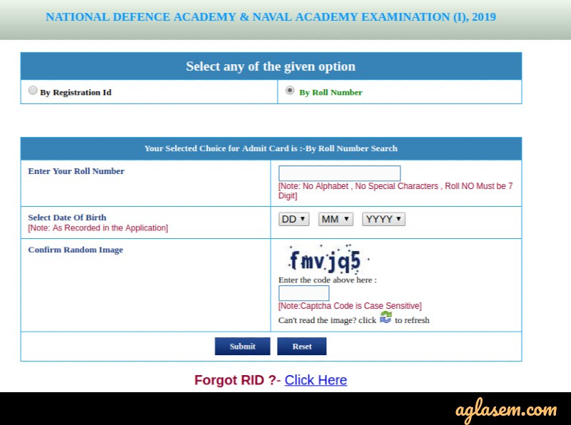 NDA 2 Admit Card 2019