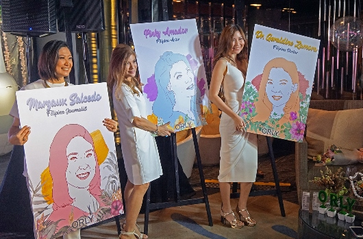 ORLY Beauty Builders with their portraits