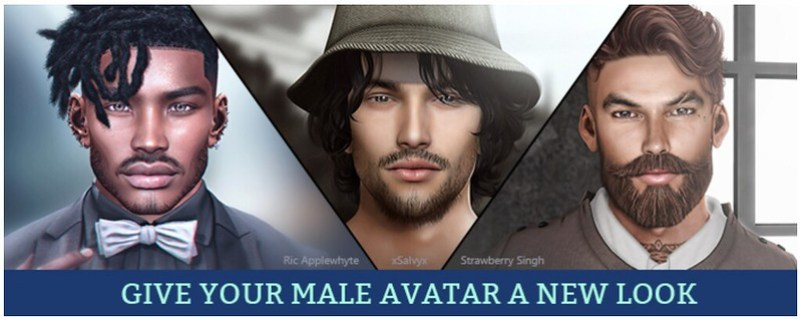 My Male Avatar on the Second Life Marketplace banner
