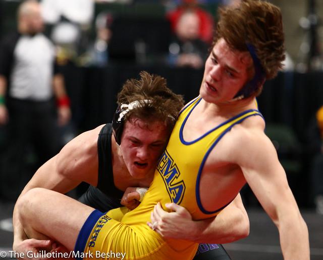 170 - Semifinal - Riley Habisch (Buffalo) 38-0 won by decision over Carl Leuer (St Michael-Albertville) 39-10 (Dec 5-2) - 190302amk0133