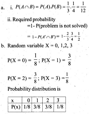 Plus Two Maths Chapter Wise Questions and Answers Chapter 13 Probability 20
