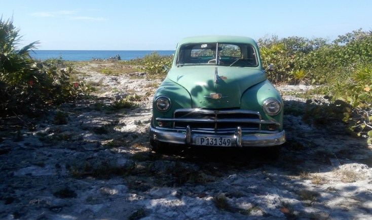 Classic car by the beach, Playa Giron