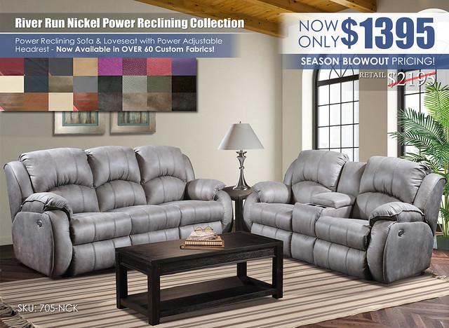 River Run Nickel Power Reclining Set_Special_705