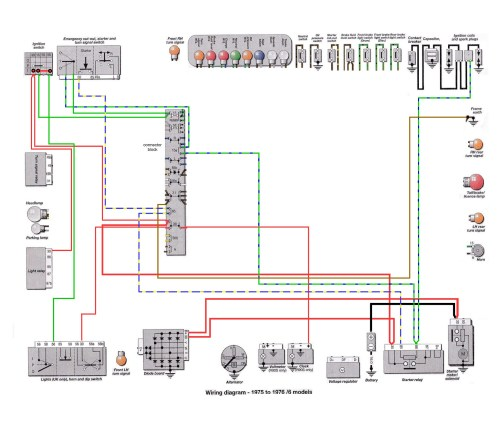 6 Series 1975-76: Starter Button Wires [SOURCE: Haynes Manual]                                               --> CLICK TO ENLARGE