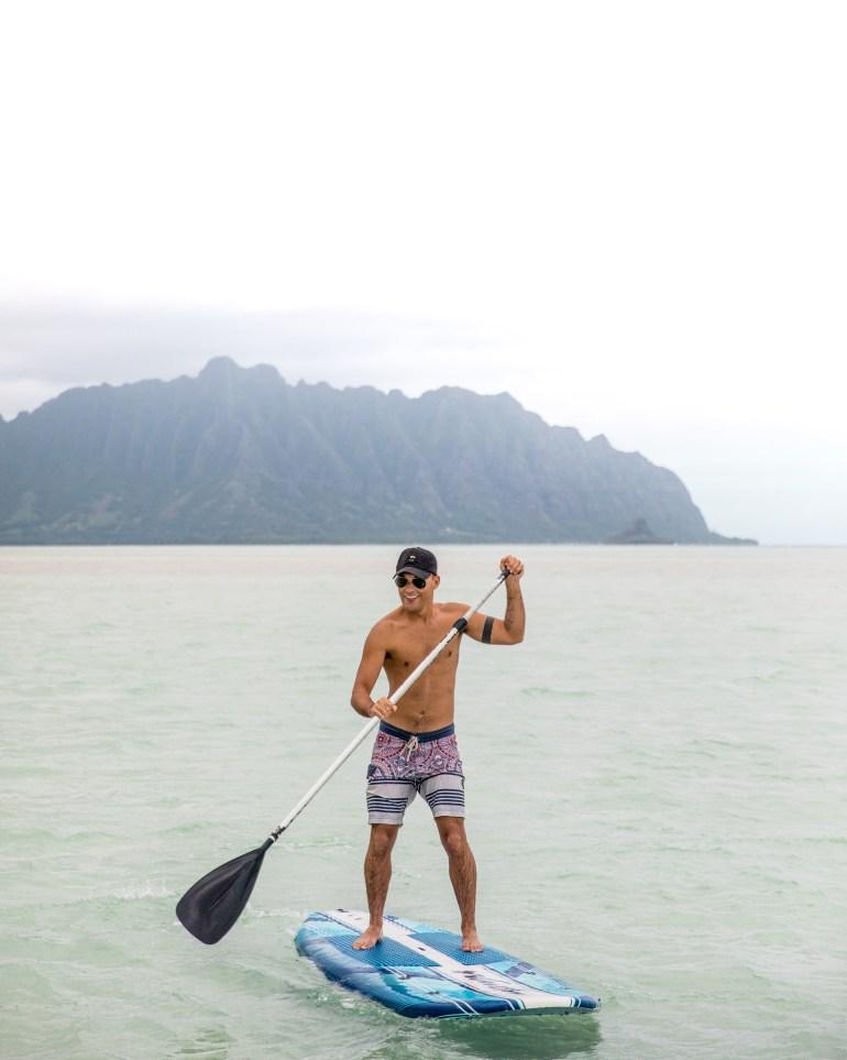 Kaneohe Sandbar on Oahu, Hawaii